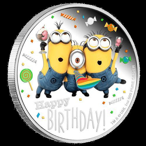 1 Unze Silber Minions Happy Birthday 2019 Proof-Qualität