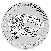 Vorderseite 1 Unze Silber Australien Salzwasser Krokodil   Vorderseite der 1 Unze Salzwasser Krokodil Silbermünze Australien