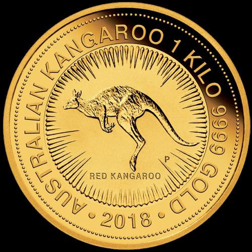 1 kg Gold Australien Känguru 2018