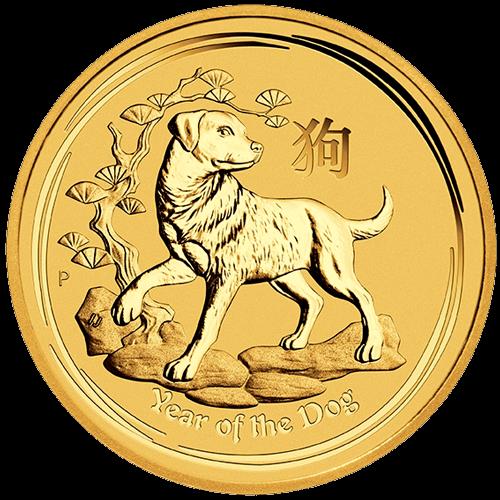 1/20 Unze Gold Lunar II Hund 2018