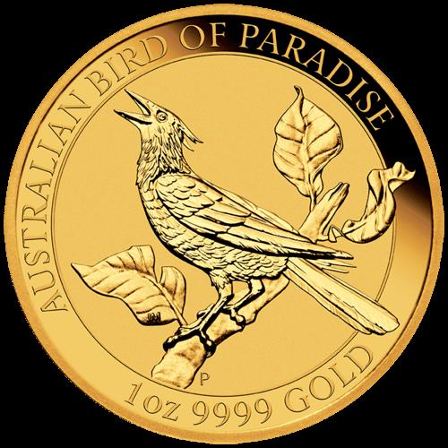 1 Unze Gold Australien Birds of Paradise - Manucodia Paradiesvogel 2019
