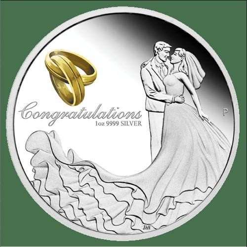 1 Unze Silber Hochzeit 2019