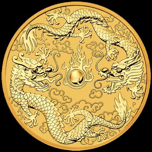 1 Unze Gold Australien Dragon & Dragon 2020