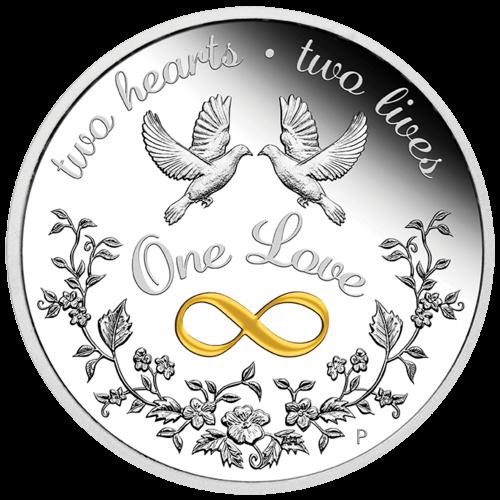 1 Unze Silber One Love 2021 - Polierte Platte