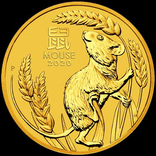 1/2 Unze Gold Lunar III Maus 2020