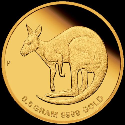 0,5 Gramm Gold Australien Mini Roo 2021