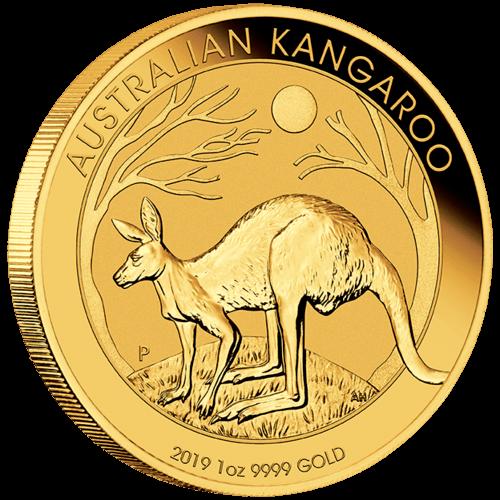 1 Unze Gold Australien Känguru 2019 (lagernd Frankfurt)