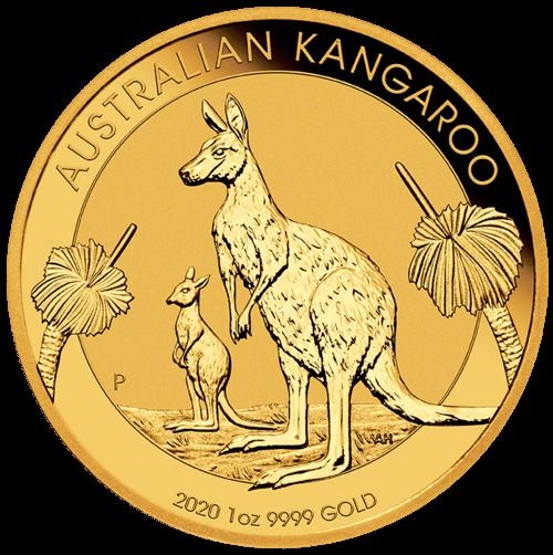 1/10 Unze Gold Australien Känguru 2020