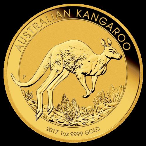 1 Unze Gold Australien Känguru 2017