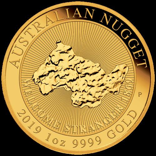 1 Unze Gold Australian Nugget Welcome Stranger 2019