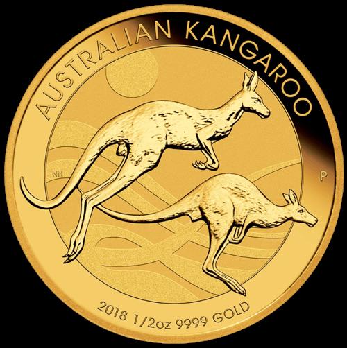 1/2 Unze Gold Australien Känguru 2018