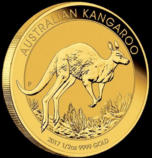1/2 Unze Gold Australien Känguru 2017