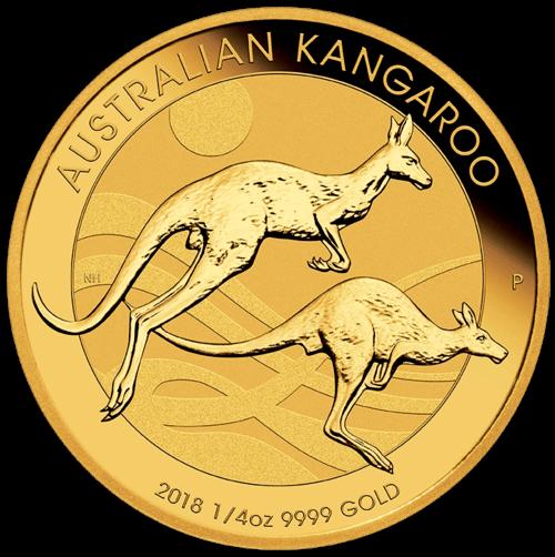 1/4 Unze Gold Australien Känguru 2018