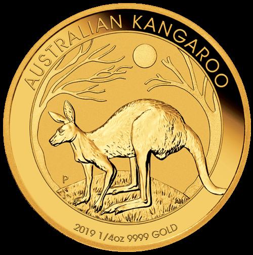 1/4 Unze Gold Australien Känguru 2021 (lagernd Frankfurt)