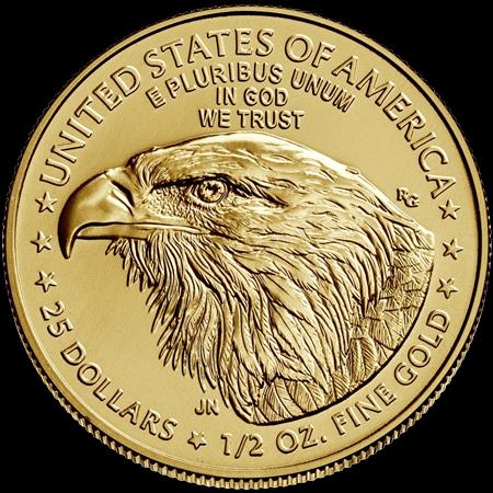 1/2 Unze Gold American Eagle 2021 Typ 2