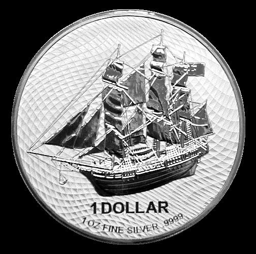 1 Unze Silber Cook Islands Bounty 2021