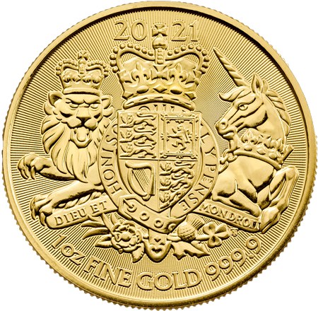 1 Unze Gold The Royal Arms 2021