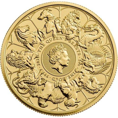 1 Unze Gold The Queen´s Beasts - Completer Coin 2021