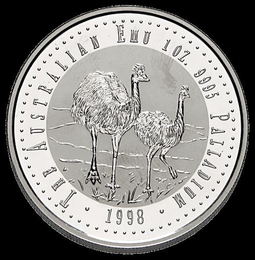1 Unze Palladium Emu diverse Jahrgänge