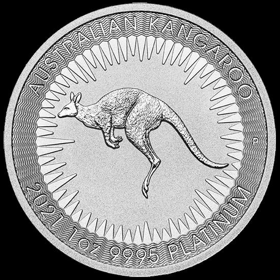 1 Unze Platin Australien Känguru 2021