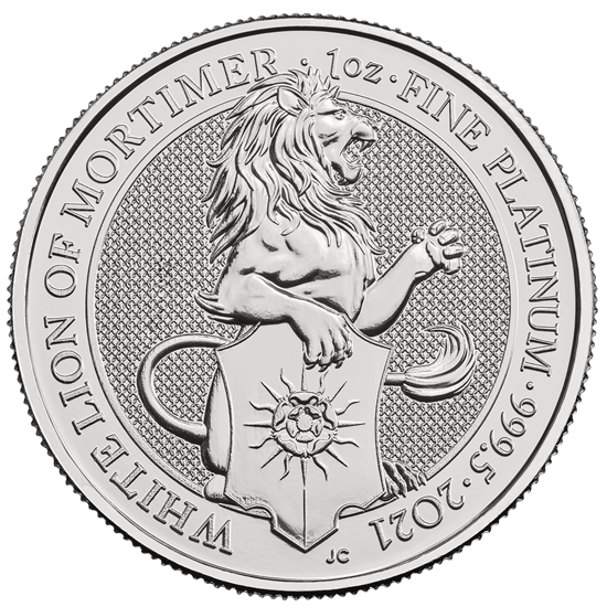 1 Unze Platin The Queen´s Beasts - White Lion of Mortimer 2021