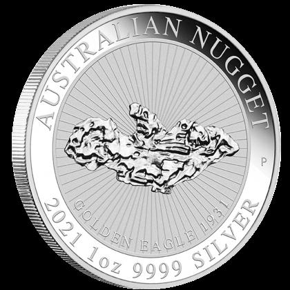 1 Unze Silber Australien Nugget Golden Eagle 2021