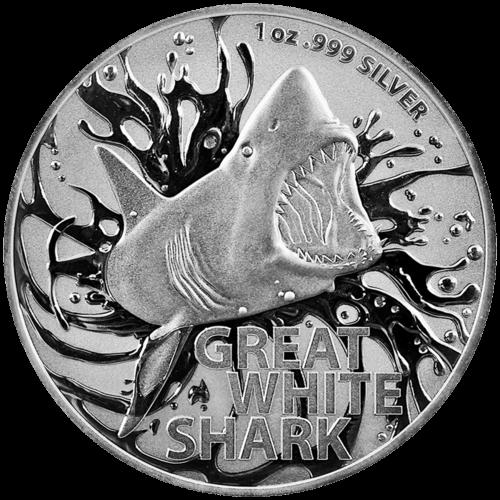 1 Unze Silber Großer Weißer Hai 2021