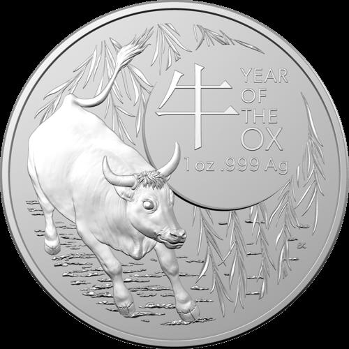 1 Unze Silber Australien (RAM) Lunar II Ochse 2021