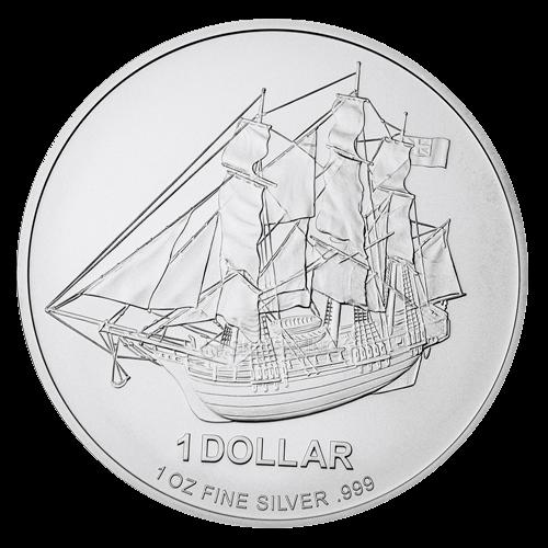 1 Unze Silber Cook Islands | Vorderseite Cook Islands Silbermünze 1 Unze von Heimerle + Meule