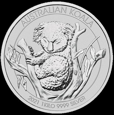 1 kg Silber Australian Koala 2021