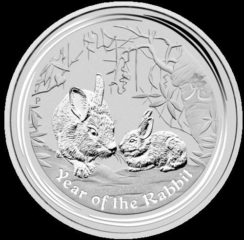 1 kg Silber Lunar II Hase 2011