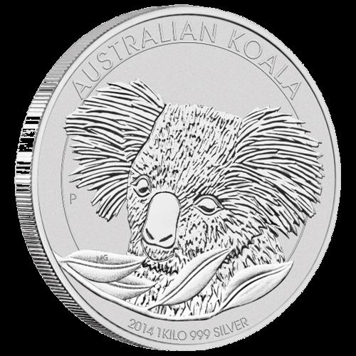 Vorderseite der 1kg Silbermünze Australian Koala   Vorderseite Silbermünze 1 kg Australian Koala von The Perth Mint Australia