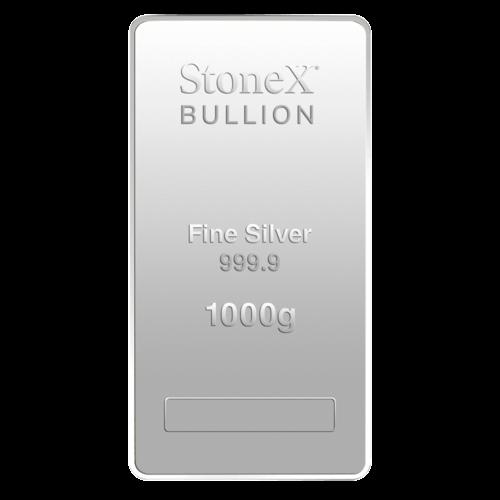 1 kg Silber Münzbarren StoneX 2021