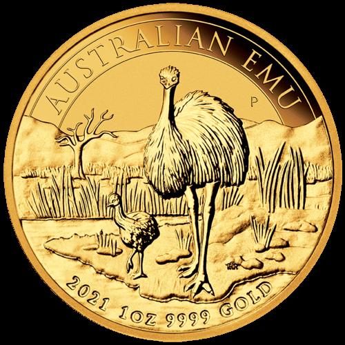 1 Unze Gold Australien Emu 2021