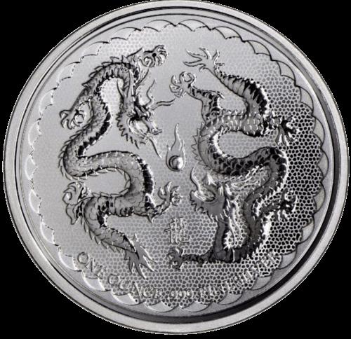 1 Unze Silber Niue Double Dragon 2018