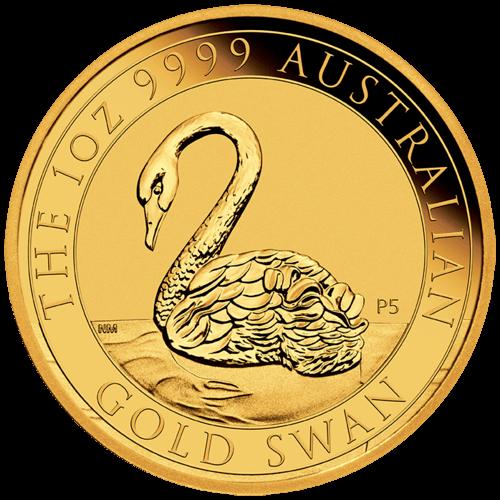1 Unze Gold Australien Schwan 2021