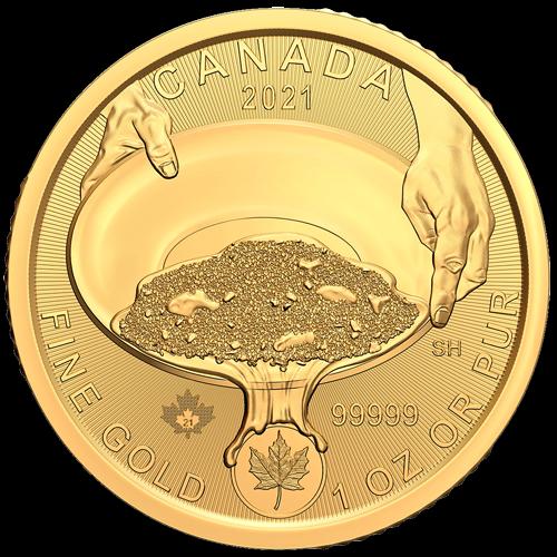 1 Unze Gold Klondike Goldrausch 2021