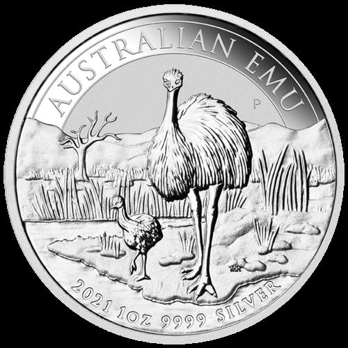 1 Unze Silber Australien Emu 2021