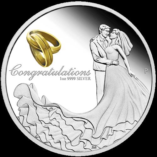 1 Unze Silber Hochzeitsmünze 2021 Proof-Qualität