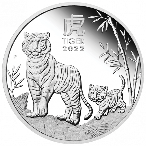 1 Unze Silber Lunar III Tiger 2022