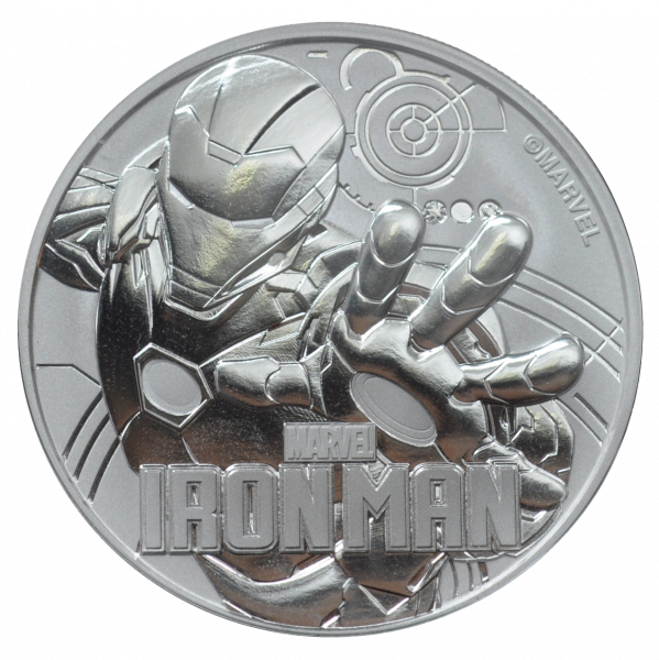 1 Unze Silber Marvel Iron Man 2018