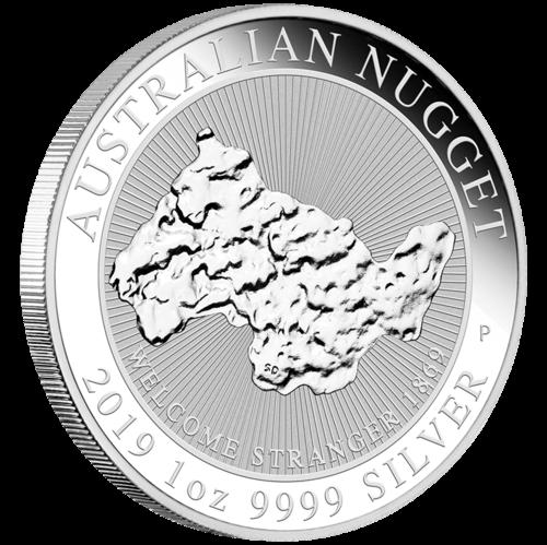 1 Unze Silber Australian Nugget Welcome Stranger 2019