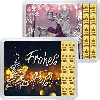 10 g Gold Geschenkkarte Frohes Fest
