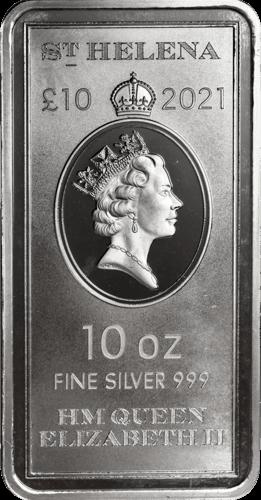 10 Unzen Silber Münzbarren St. Helena 2021