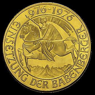 12,15 g Gold 1000 Schilling Babenberger Goldmünze Österreich