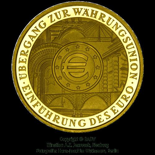 1/2 Unze Gold 100 Euro Einführung Euro 2002