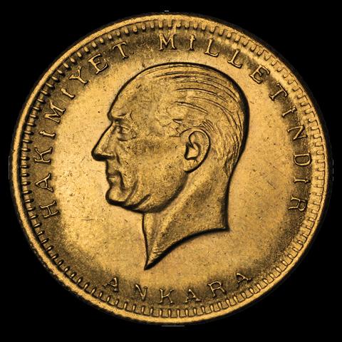 6,61 g Gold Türkei 100 Kurush Piaster