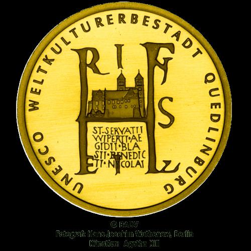 1/2 Unze Gold 100 Euro Deutschland 2003 UNESCO Welterbe - Quedlinburg