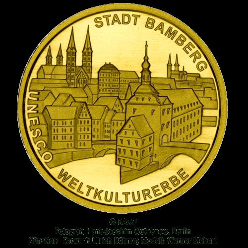 1/2 Unze Gold 100 Euro Deutschland 2004 UNESCO Welterbe - Bamberg