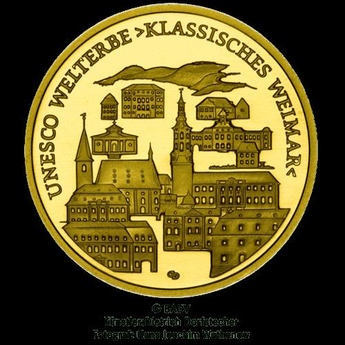 1/2 Unze Gold 100 Euro Deutschland 2006 UNESCO Welterbe - Weimar